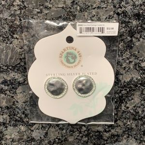 NWT Spartina 449 Sterling Silver Plated Earrings